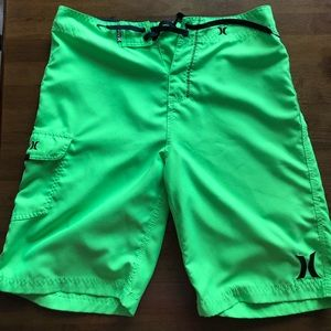 Hurley Lime Green Mens Board Shorts